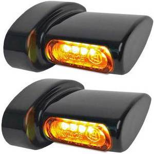 Led winkers Harley-Davidson -'17 rear Heinz Bikes Winglets Micro black matt smoked pair