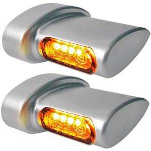 Led winkers Harley-Davidson -'17 rear Heinz Bikes Winglets Micro chrome satin pair