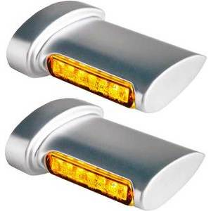 Led winkers Harley-Davidson -'17 rear Heinz Bikes Winglets chrome satin pair