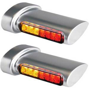 Led winkers Harley-Davidson -'17 taillight combo Heinz Bikes Winglets satin smoked pair