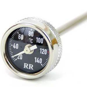 Engine oil thermometer Moto Guzzi V 35 dial black