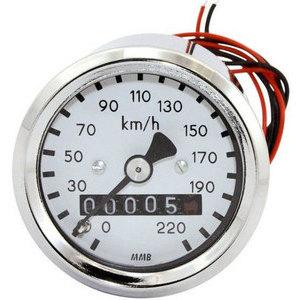 Mechanical speedometer Harley-Davidson transmission mounting MMB Sport mini body chromed dial white