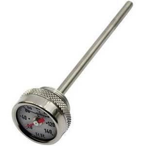 Engine oil thermometer Laverda 1000 Jota dial white