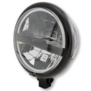 Full led headlight 5.3/4'' Highsider Bates Type5 low mounting black matt