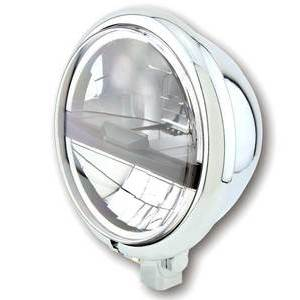 Full led headlight 5.3/4'' Highsider Bates Type5 low mounting chrome