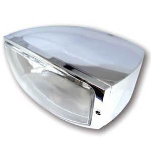 Faro anteriore Highsider Oregon alogeno attacco basso cromo lente liscia