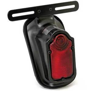 Halogen tail light Tombstone black license plate holder