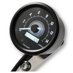 Electronic tachometer Daytona60 shift light 14K black