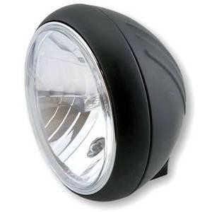 Halogen headlight 7'' Yuma black matt lens clear