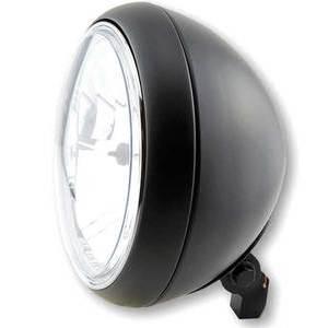 Halogen headlight 7'' Yuma2 black matt lens clear