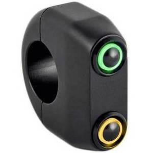 Button set 1'' M-Switch 2 LED black