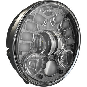 Full led headlight Harley-Davidson 5.3/4'' J.W. Speaker 8691 Adaptive2 low mounting black matt