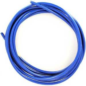 Aeronautical brake hose 10cm to assemble braided blue