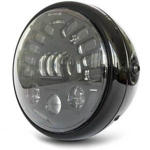 Full led headlight 7'' Multi with winkers black polish