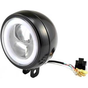 Full led headlight 4.75'' Daytona Capsule-120 low mounting black
