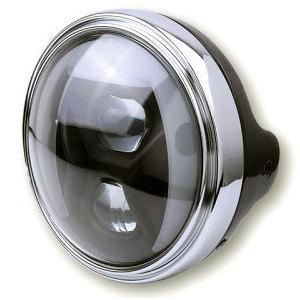 Full led headlight 7'' Highsider Lucas Type8 black matt smoked