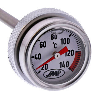 Termometro olio M24x3 lunghezza 7mm fondo bianco
