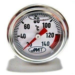 Termometro olio M20x2.5 lunghezza 124mm fondo bianco
