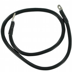 Battery cable 38cm black 6-8mm