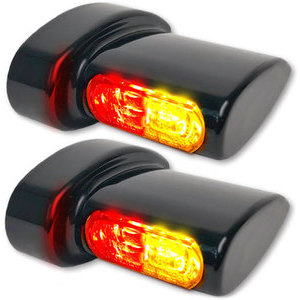 Led winkers Harley-Davidson -'17 taillight combo Heinz Bikes Winglets Micro black smoked pair