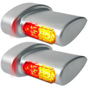 Led winkers Harley-Davidson -'17 taillight combo Heinz Bikes Winglets Micro satin smoked pair