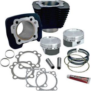 Kit aumento cilindrata per Harley-Davidson Sportster 883 '86-'19 1200cc nero
