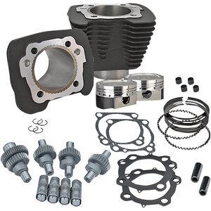 Kit aumento cilindrata per Harley-Davidson Sportster 883 '00-'19 1200cc completo nero