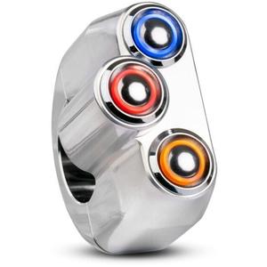 Button set 1'' M-Switch 3 LED chrome