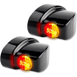 Led winkers Harley-Davidson -'17 taillight combo Heinz Bikes Winglets Nano black smoked pair