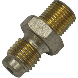 Banjo bolt connector 2 ways straight M10x1-1/8'' NPT