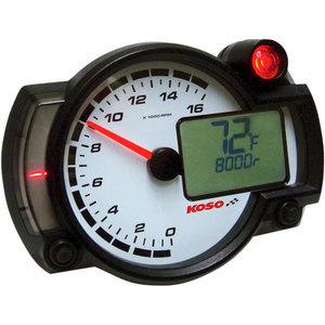 Electronic tachometer Koso RX-2NR 16K dial white