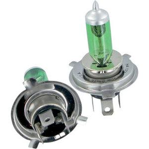 Coppia bulbi alogeni 12V-H4, 60/55W verde