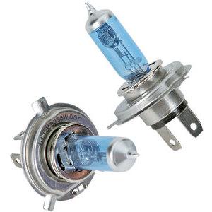 Coppia bulbi alogeni 12V-H4, 60/55W blu