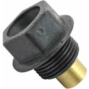 Bullone olio M20x1.5 magnetico acciaio nero