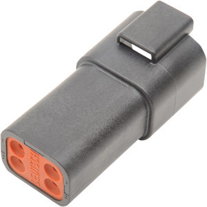 Connettore cavi elettrici per Harley-Davidson DT 4 poli femmina nero