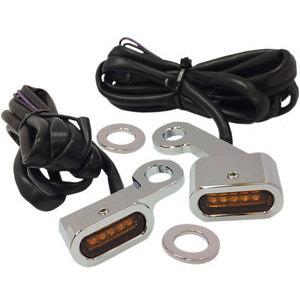 Coppia frecce led per Harley-Davidson Touring '09- anteriori Drag Specialties cromo