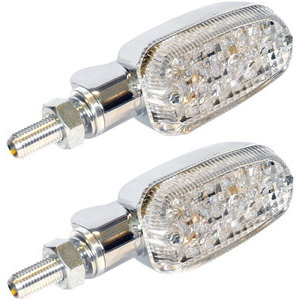Halogen winkers K&S Oval chrome transparent pair