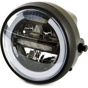 Full led headlight 6.25'' Puig black matt