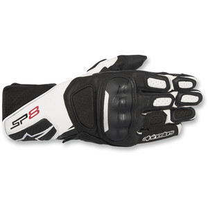 Guanti moto Alpinestar SP-8 Performance nero/bianco