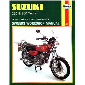 Manuale di officina per Suzuki 250-350 '68-'78