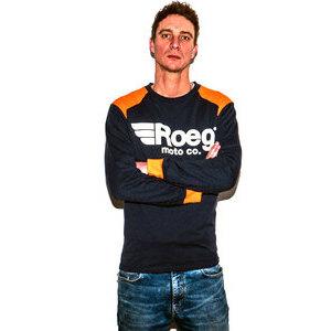 Felpa ROEG Ricky blu/arancione