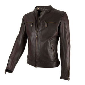 Giacca moto By City Street Cool marrone