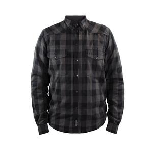 Camicia moto John Doe XTM grigio/nero