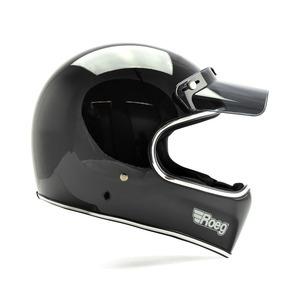 Casco moto integrale ROEG Peruna nero lucido