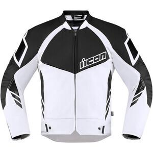 Giacca moto Icon Hypersport2 bianco/nero
