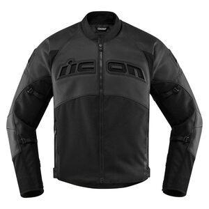 Giacca moto Icon Contra2 Perforated nero