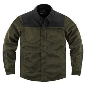 Camicia moto Icon Upstate verde scuro/nero