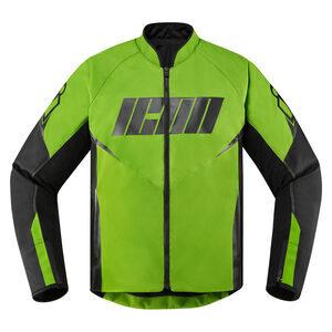 Giacca moto Icon Hooligan verde