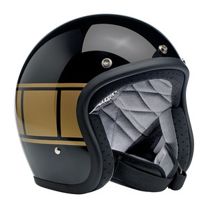 Casco moto aperto Biltwell Bonanza nero lucido/oro