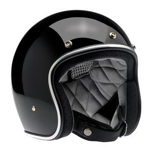 Casco moto aperto Biltwell Bonanza nero lucido